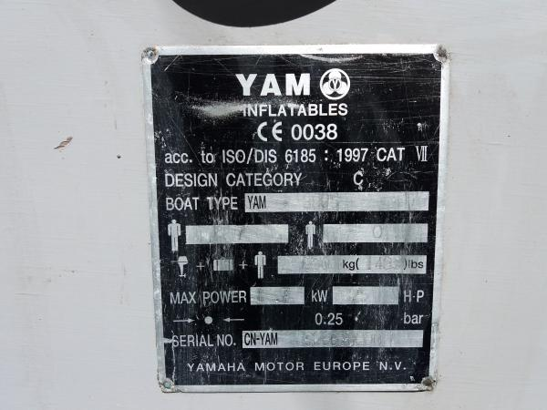 Robuuste YAM 380S 7-persoons rubberboot