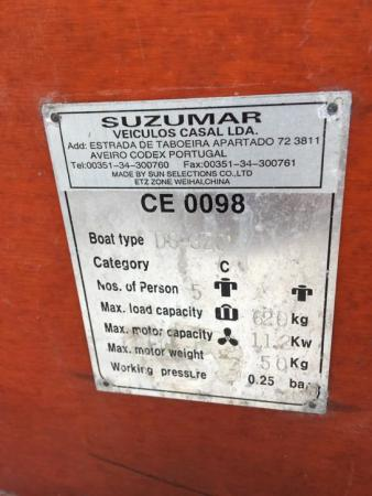 Suzumar 320 RIB boot -compleet- met 4PK BBmotor & extra's